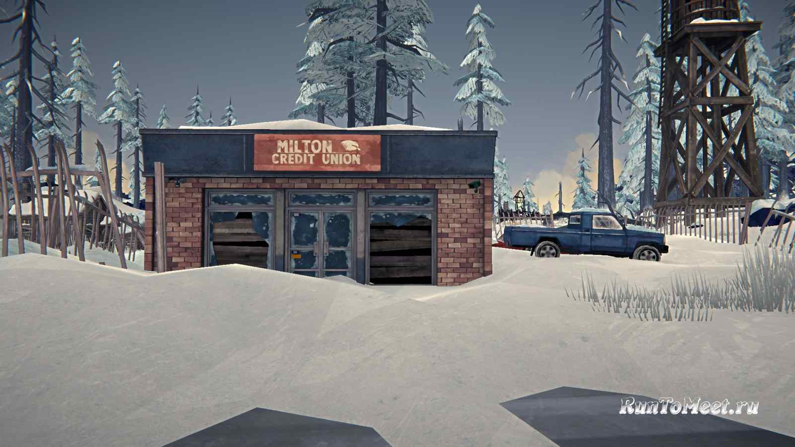 Здание банка, на локации Милтон, в игре The long dark