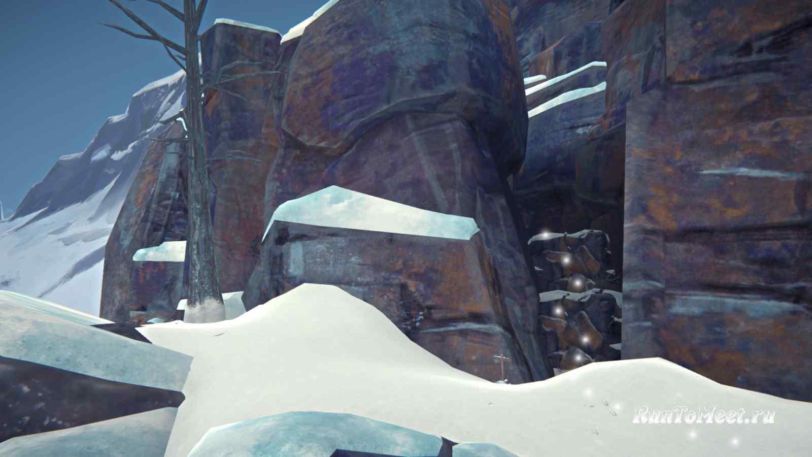 Подъем около вида на Волчью пасть в Пепельном каньоне игры The long dark