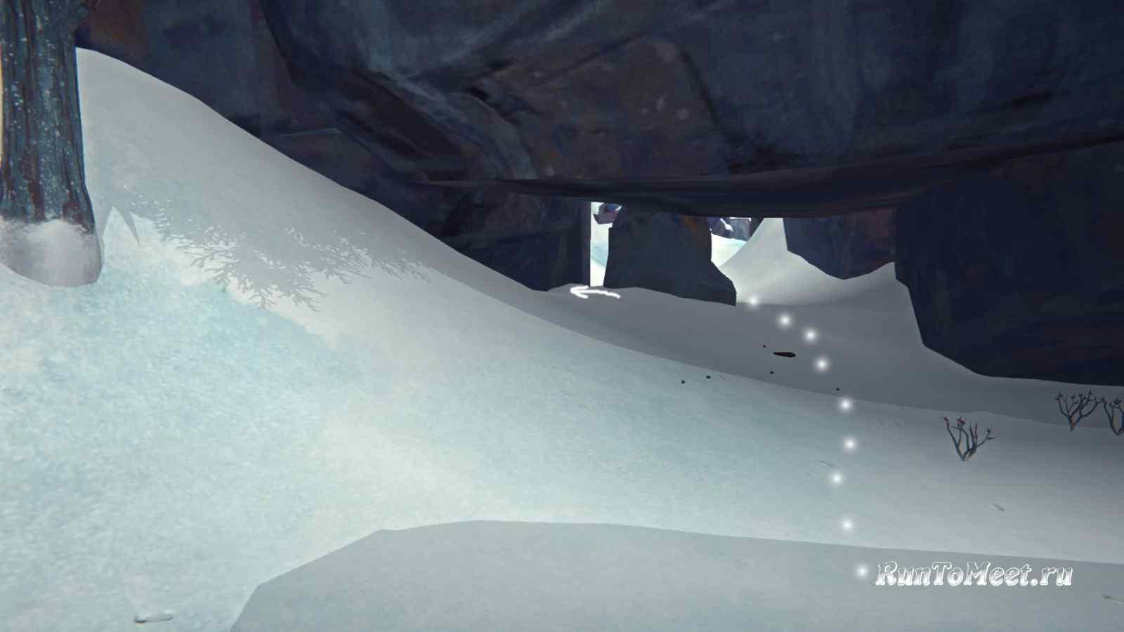 Проход с укрытием к виду на Волчью пасть в Пепельном каньоне игры The long dark