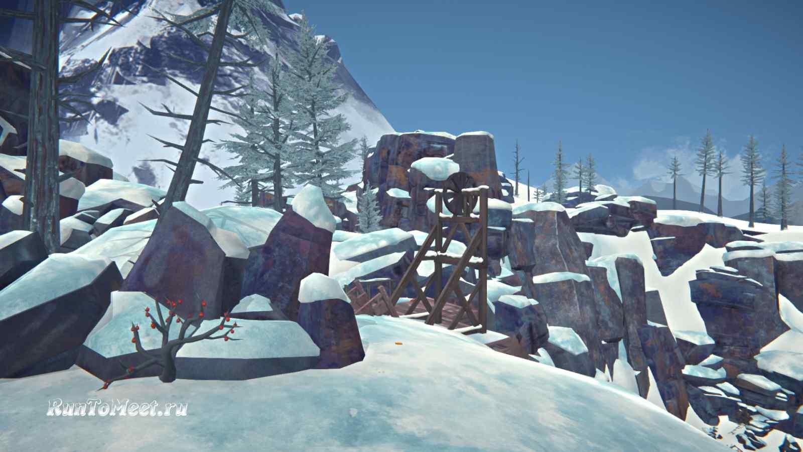Спуск к шахтерскому поселку в Пепельном каньоне игры The long dark