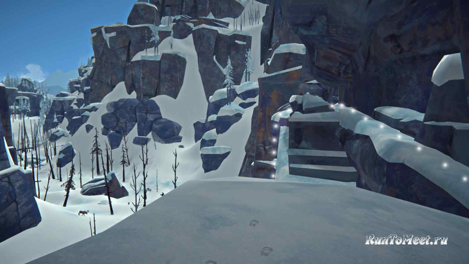 Путь возле тройного подъема в Пепельном каньоне игры The long dark
