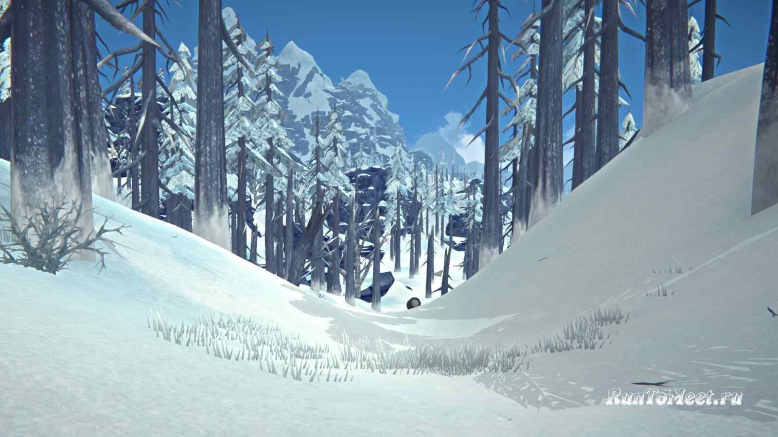 Вход на Волчью гору из локации Отрадная долина, в игре The long dark