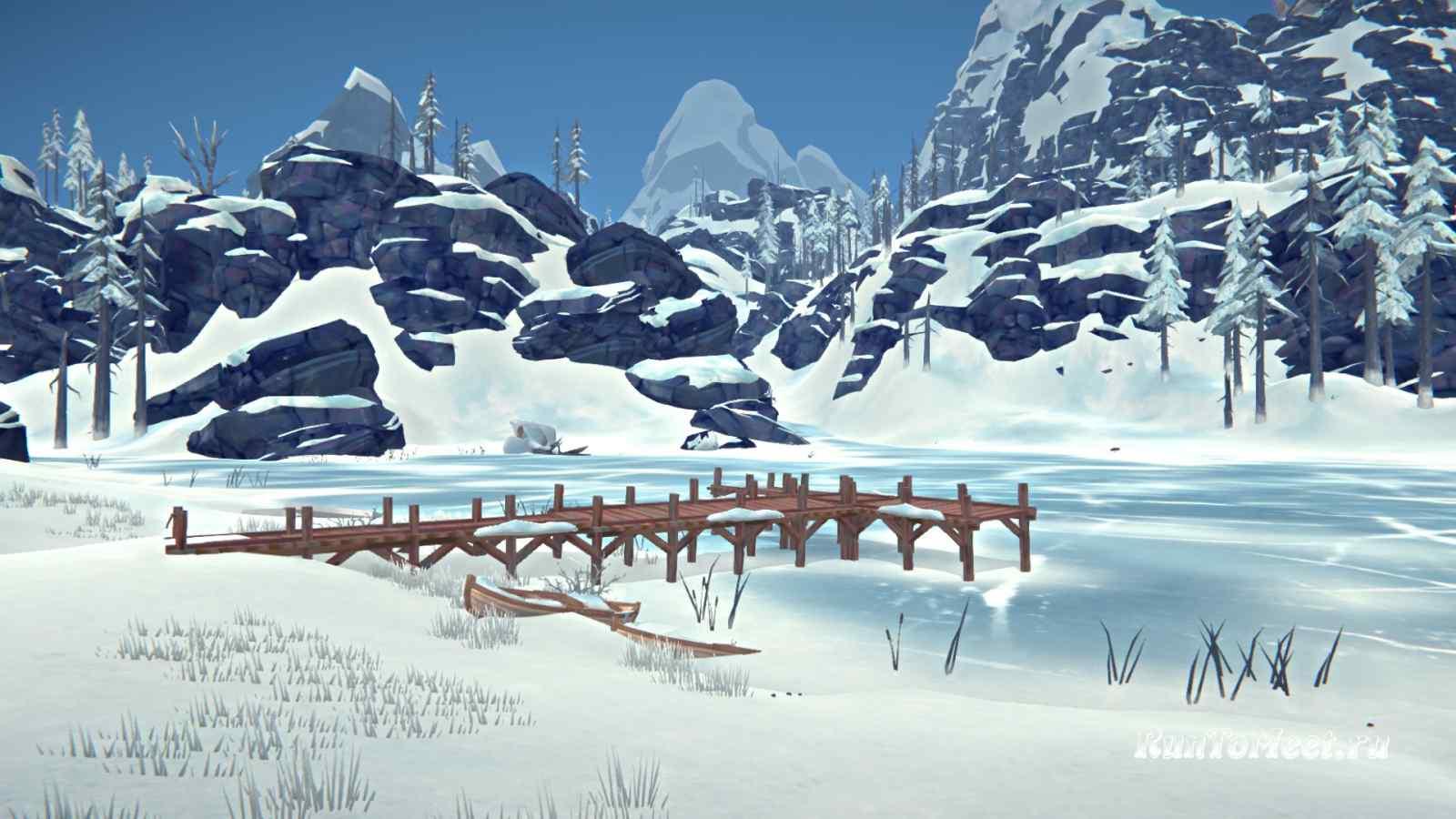 Причал Кристального озера на Волчьей горе, в игре The long dark