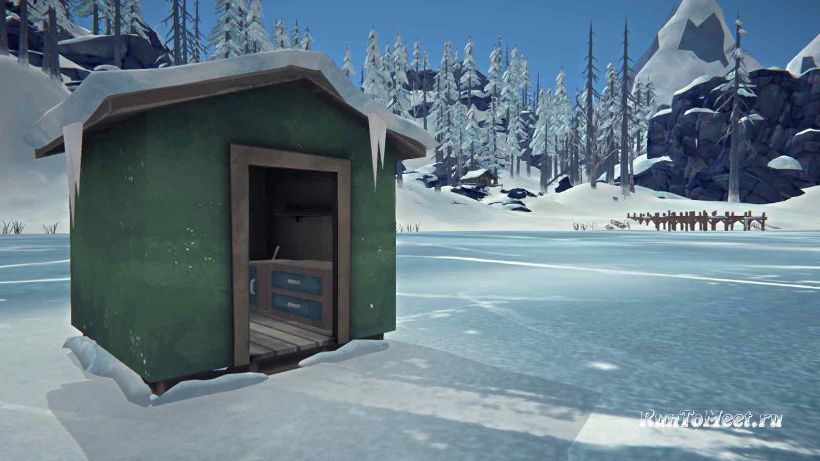 Рыбацкий домик на Кристальном озере Волчьей горы, в игре The long dark