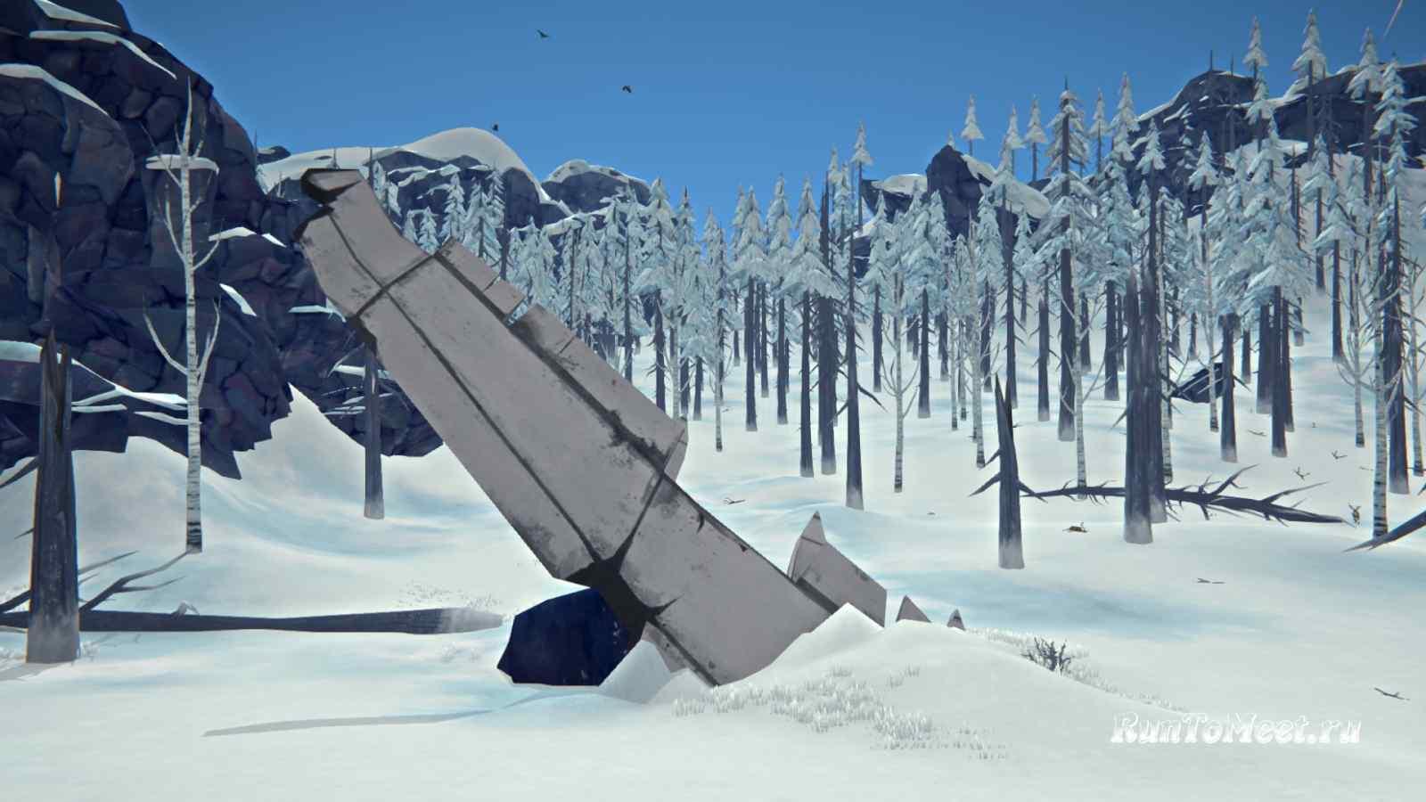 Крыло самолета на Волчьей горе, в игре The long dark