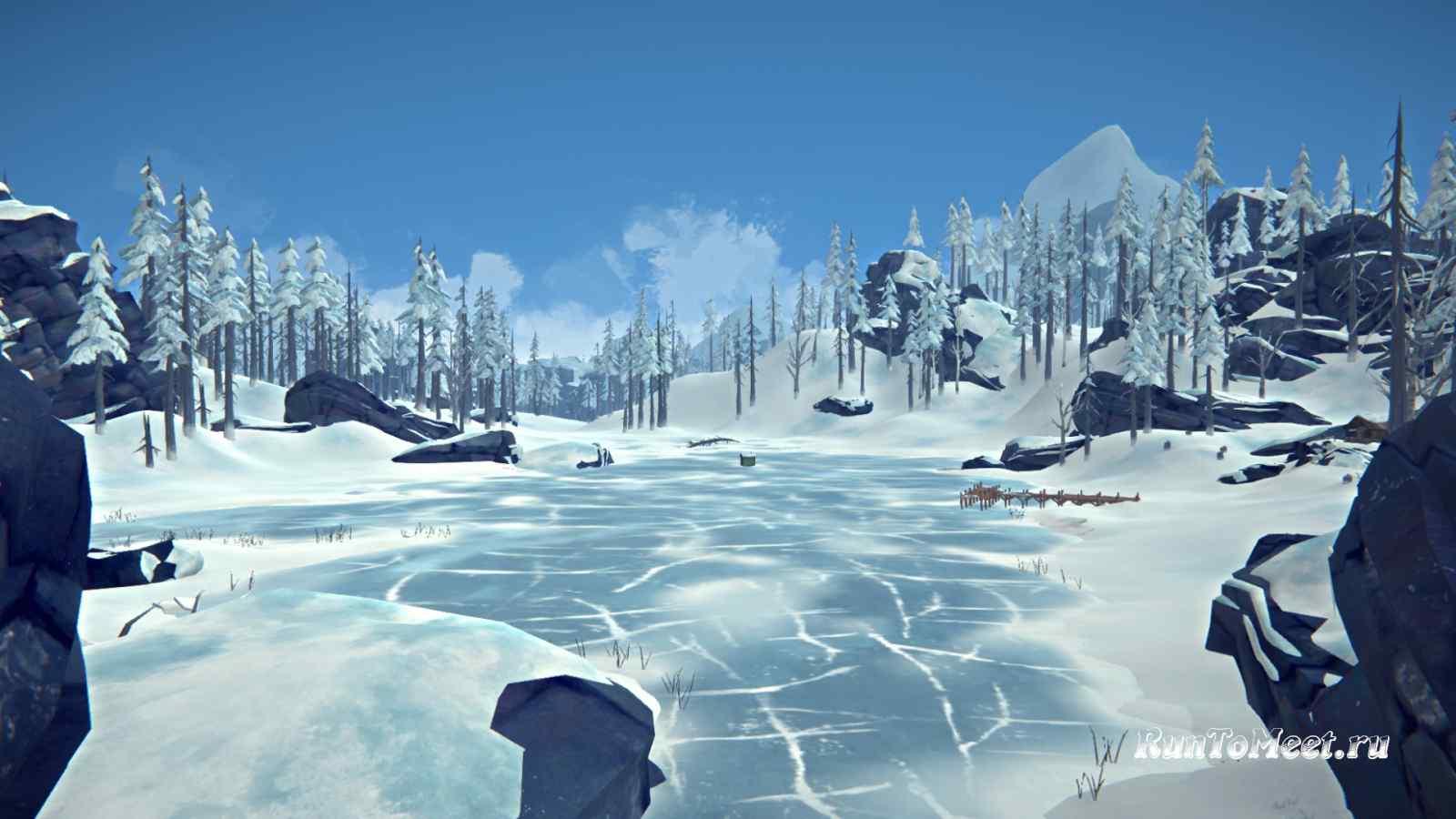 Кристальное озеро на Волчьей горе, в игре The long dark