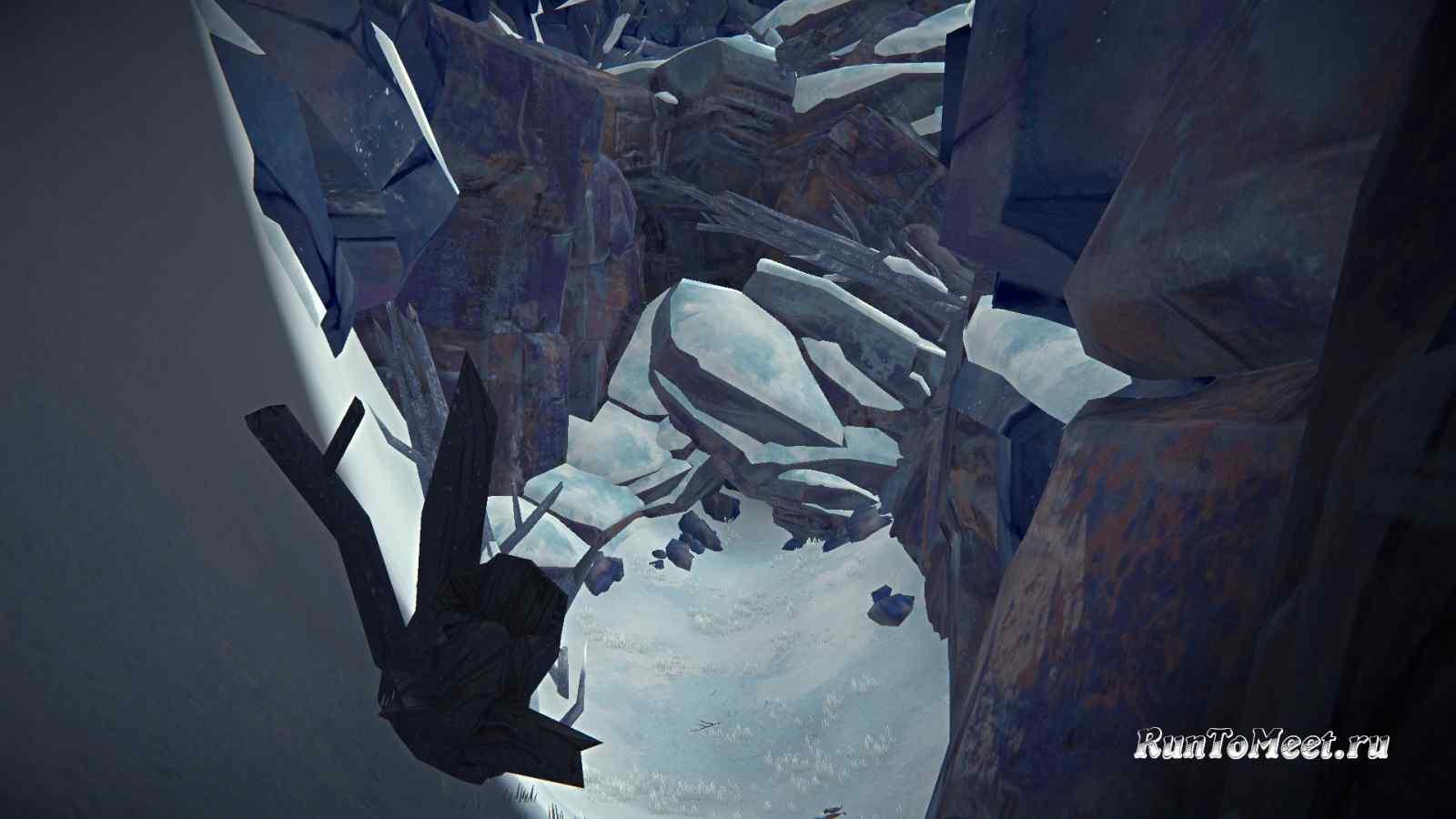 Переход в Пепельный каньон из ущелья Эхо, в игре The long dark