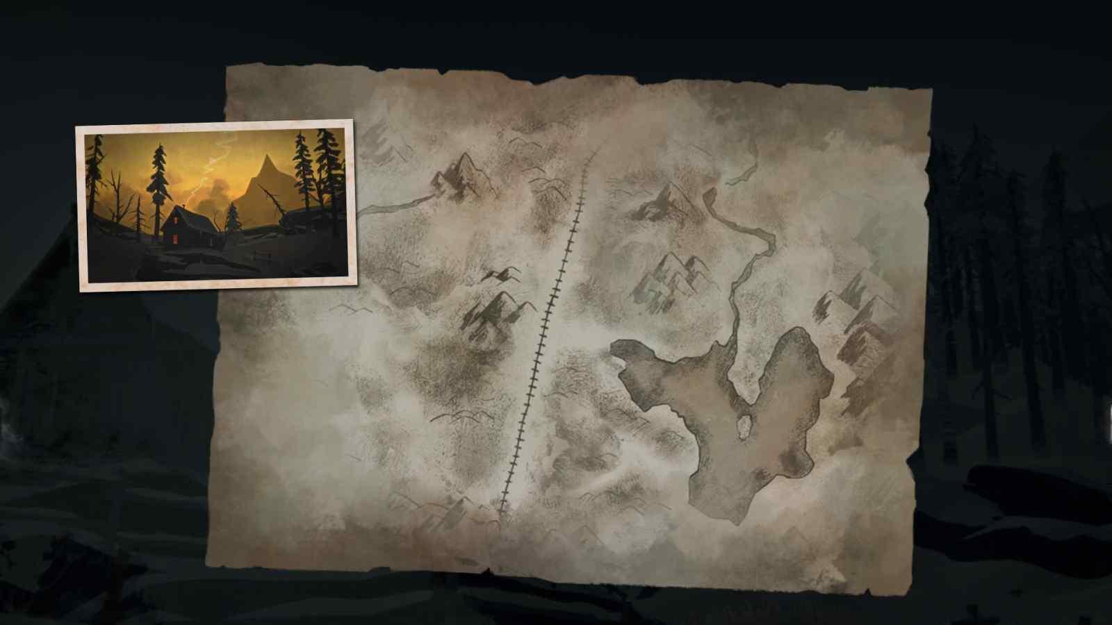 Заставка локации Загадочное озеро в игре The long dark