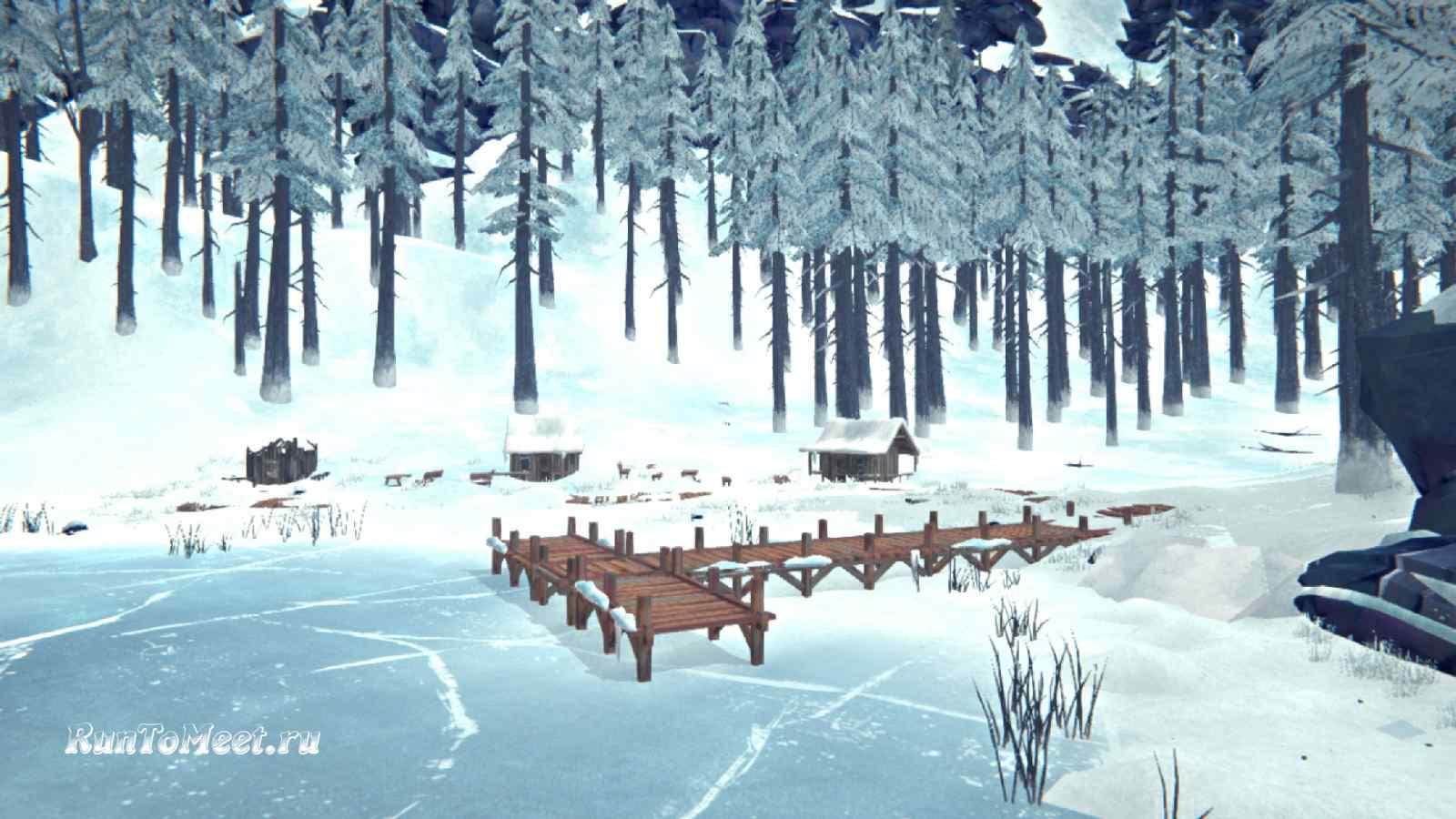 Дальние домики, на берегу Загадочного озера, в игре The long dark