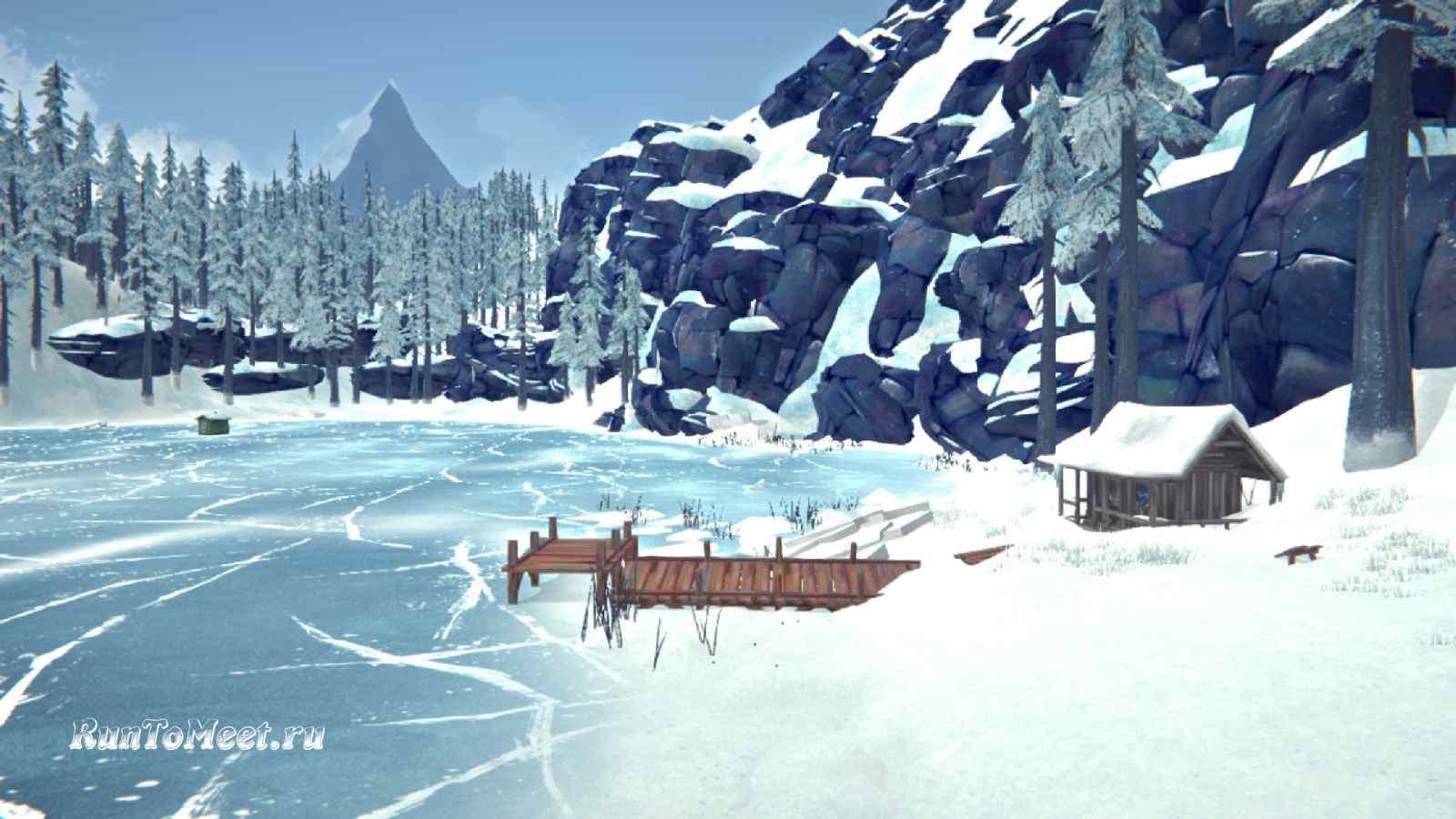 Одинокий домик, на берегу Загадочного озера, в игре The long dark