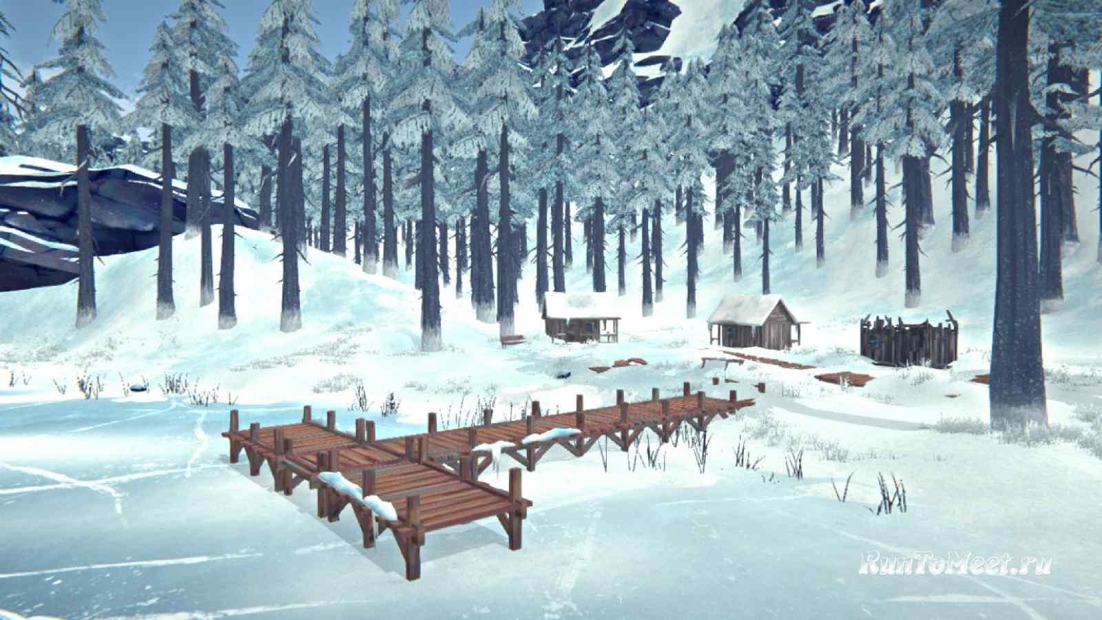 Ближние домики, на берегу Загадочного озера, в игре The long dark