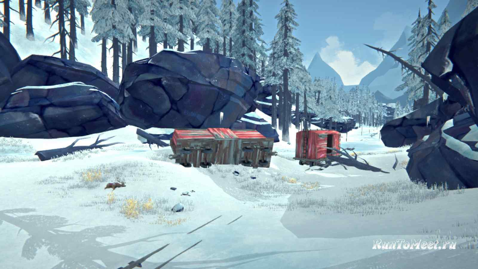 Вагоны сошедшие с рельсов, на Загадочном озере, в The long dark