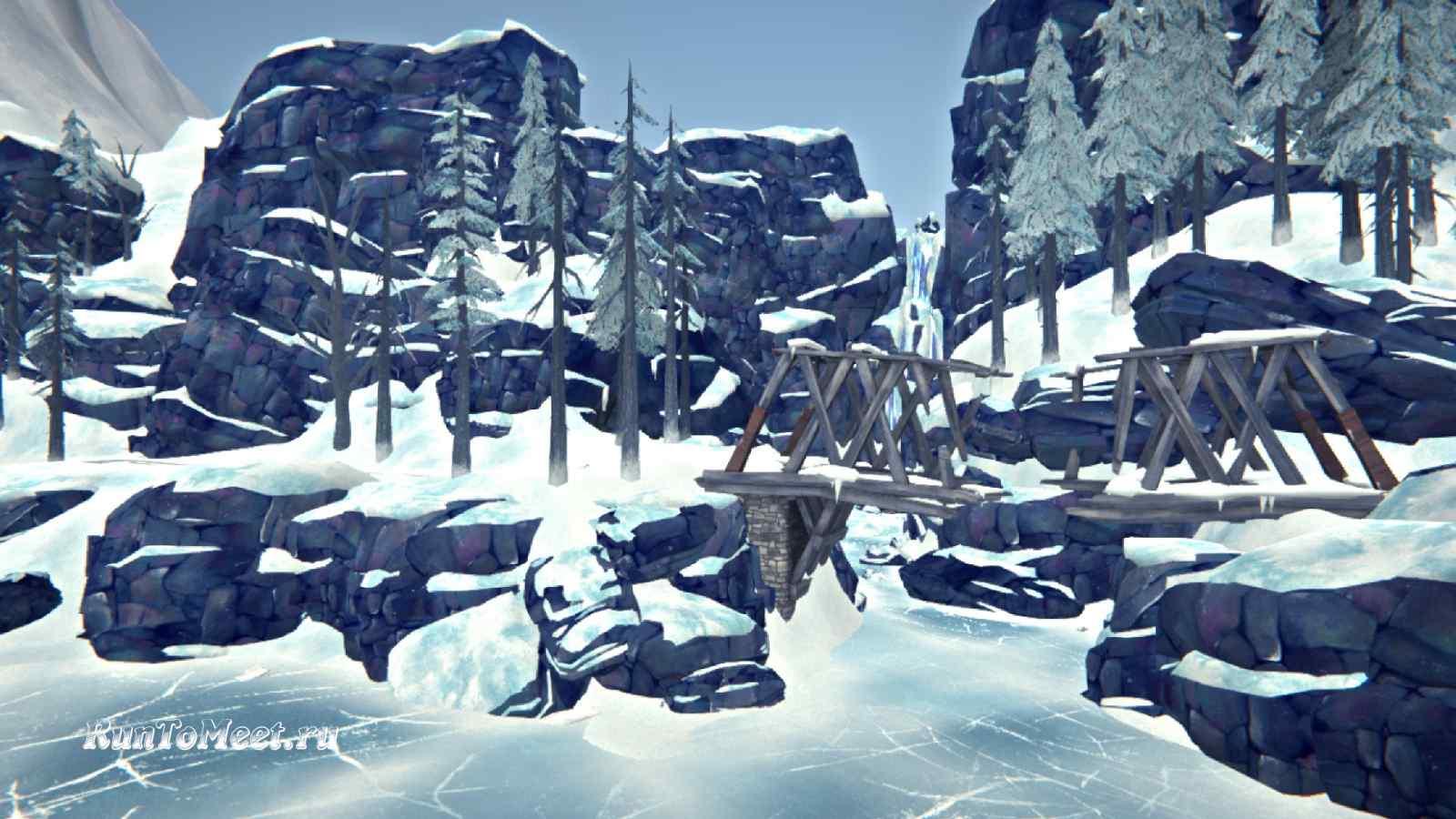 Разрушенный мост на локации Зона Запустения, в игре The long dark