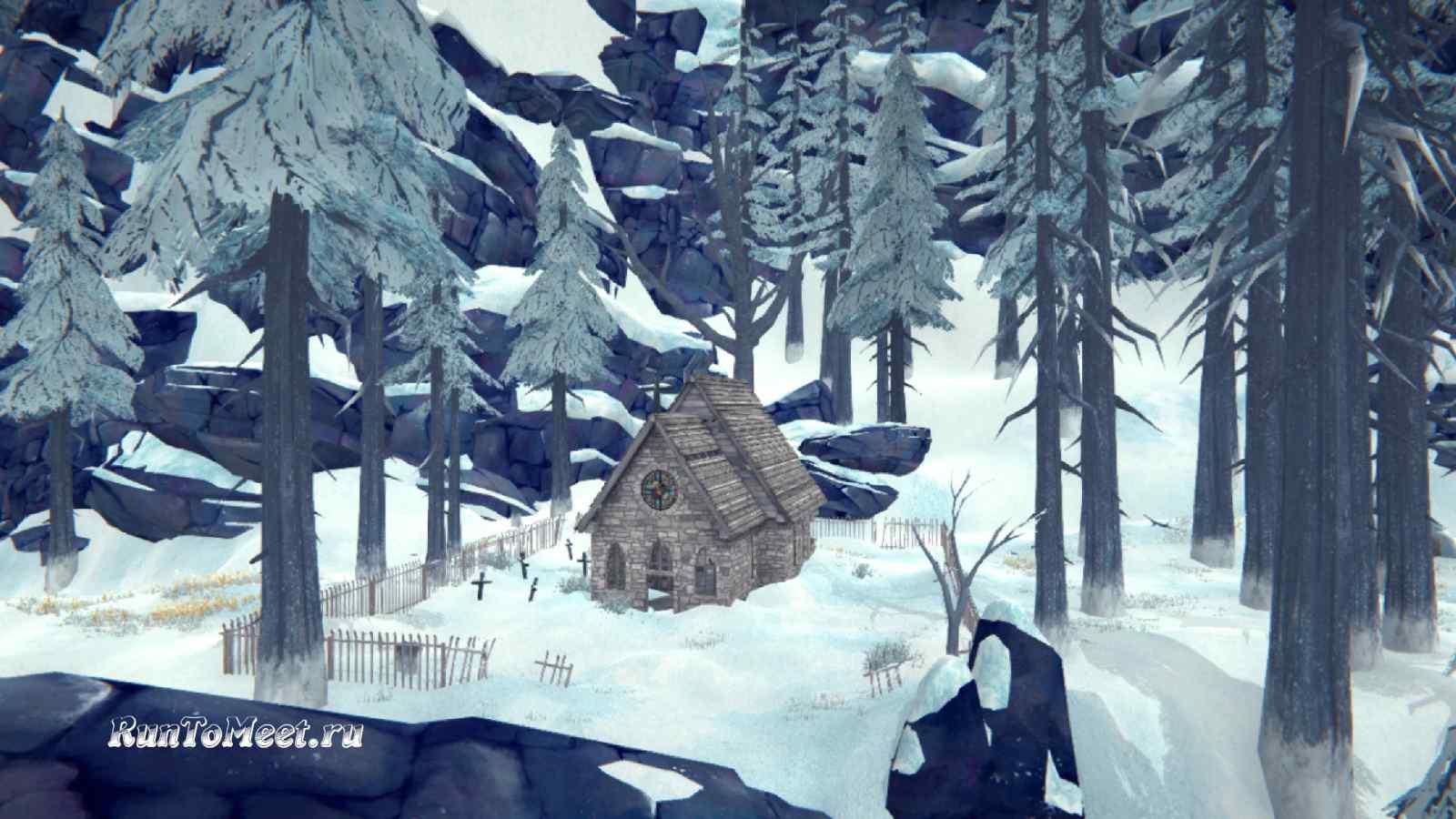 Церковь на локации Зона Запустения, в игре The long dark