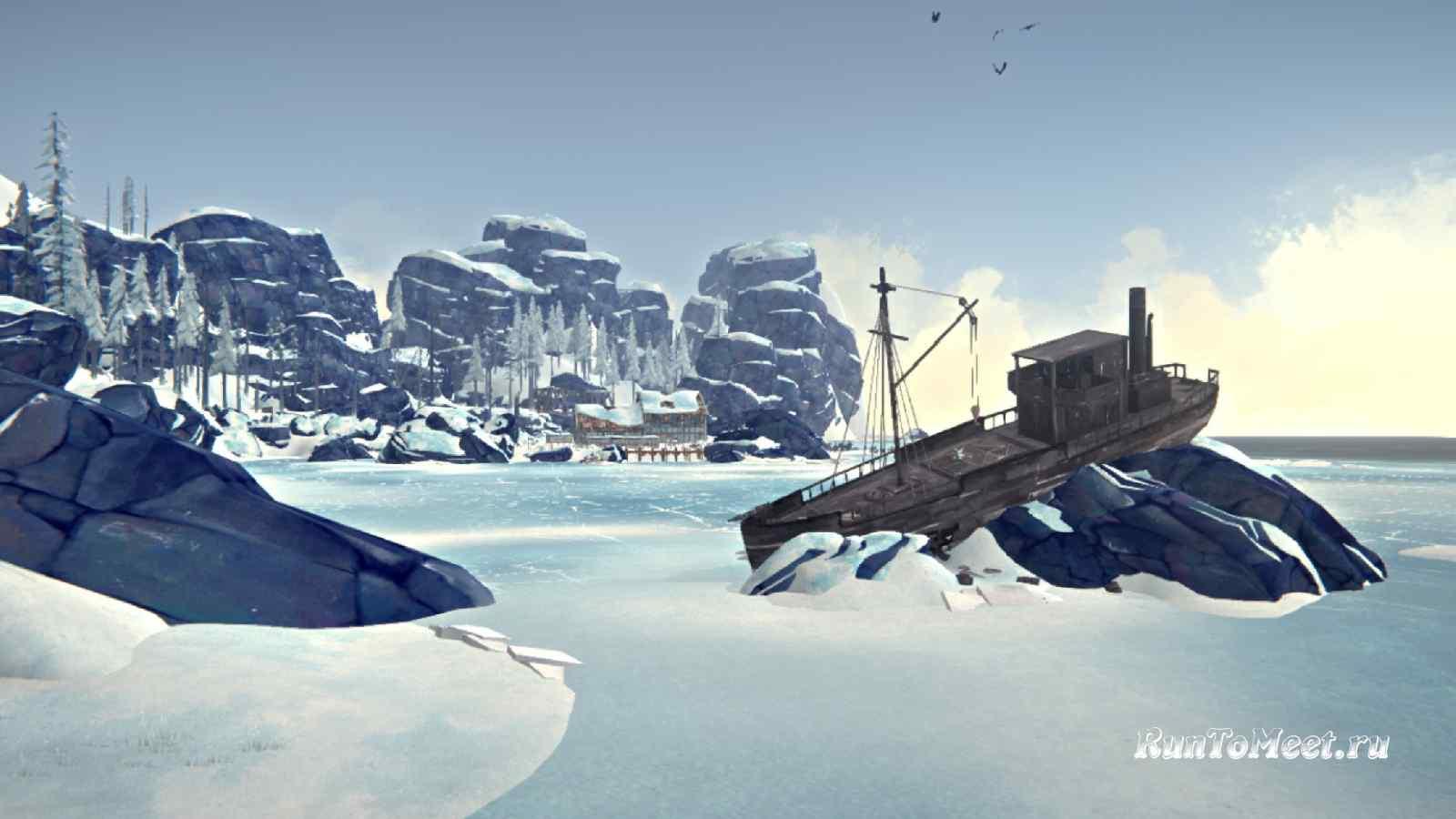 Китобойное судно, на локации Зона Запустения, в игре The long dark